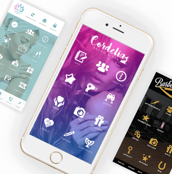 Spa, Salon APP, Marketing, Confirmations, Online Booking System