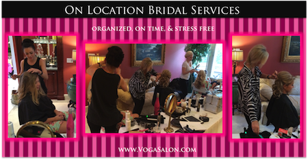 Get your hair and make-up done for your wedding at Voga Salon