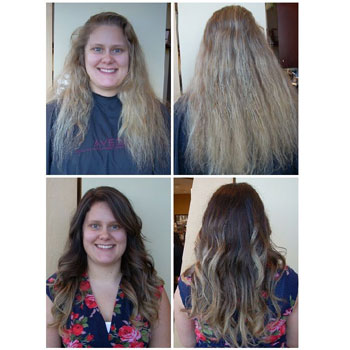 Highlights, color, cut and style with a stylist!