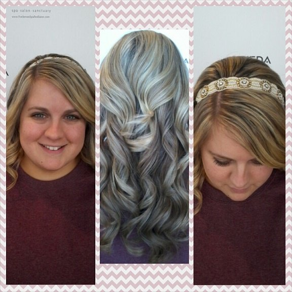 Wedding curls for the bride, Amanda!
