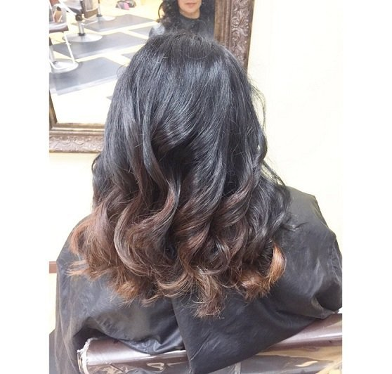Rosey's subtle balayage and cut!