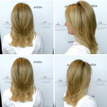 Layered cut for medium length hair!
