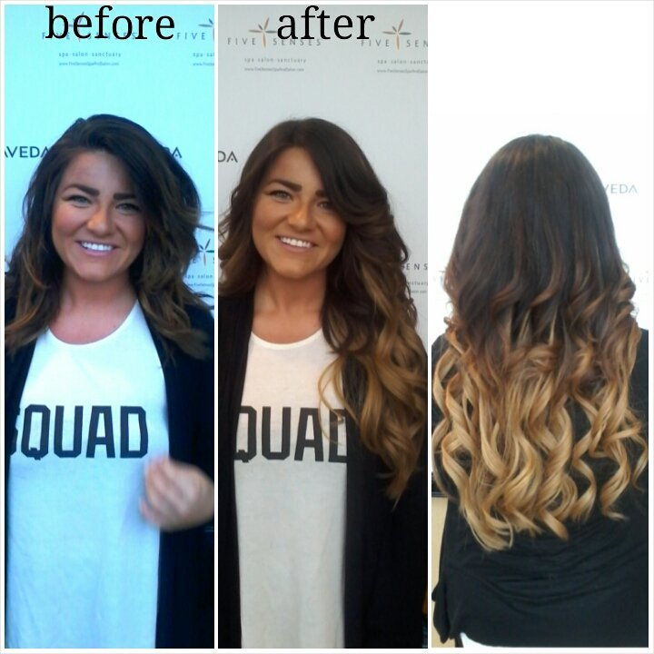 Check out Alison's new 100% human hair extensions!