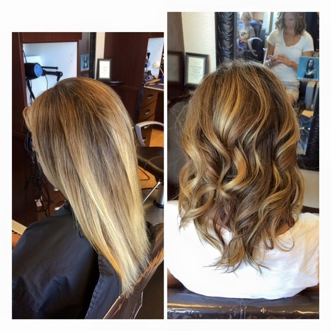 Fall is in the air! Check out these beautiful lowlights done by Jailyn!