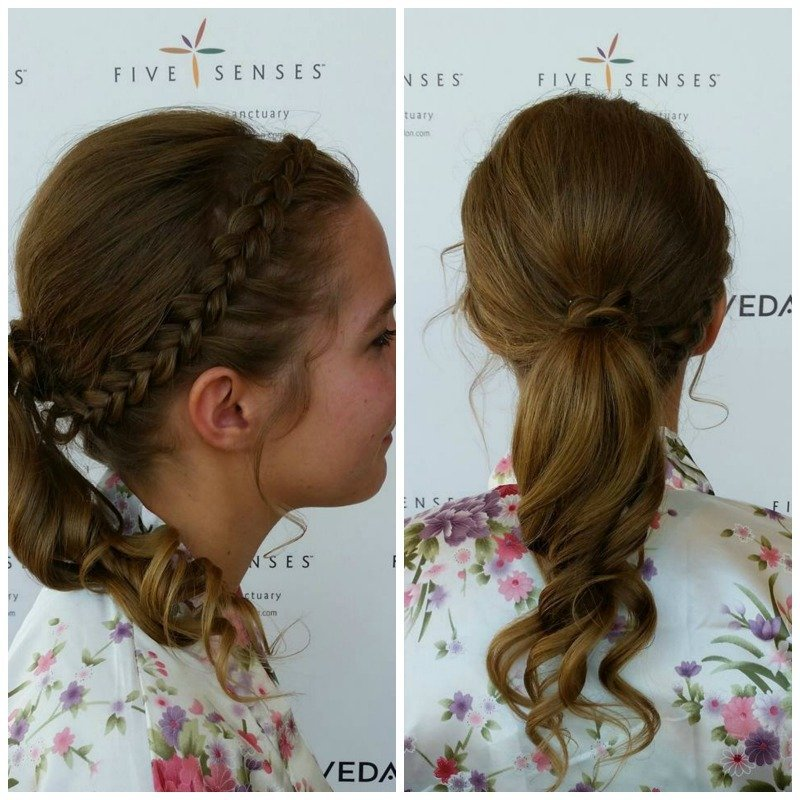 A pretty bridal ponytail for our bridesmaid, Jo, provided by Jennifer!
