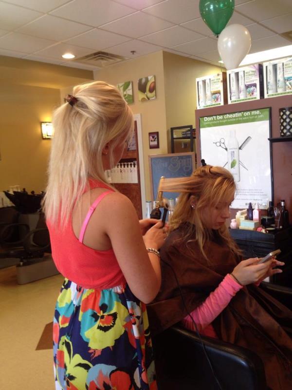 Jordan Doing Hair