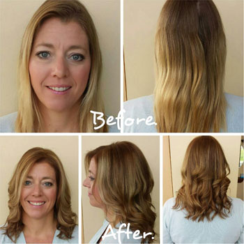 Highlights, lowlights, cut and style with a stylist.