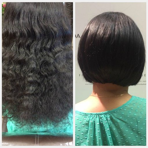 This new bob looks great on Deepa and she also donated to Children with Hairloss!