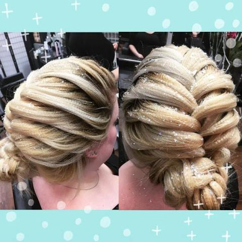 Elsa Inspired Updo by Ian!