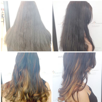 An ombre style is a good way to brighten up a solid hair color!