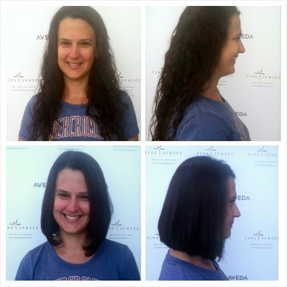 This guest cut some hair off and we love the short results!