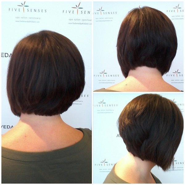 Courtney gave Lynette an angled bob for the summer!