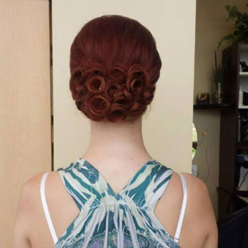 An intricate up-do by our master stylist, Melissa!