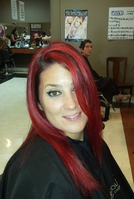 Beautiful Red Hot Color by Melissa