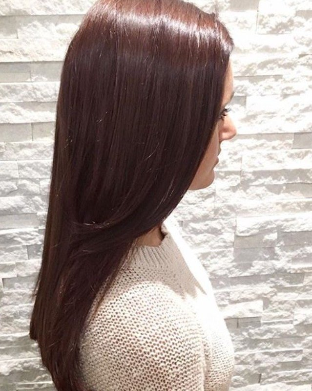 Reddish Brown Hair - All Over Color