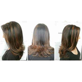 Highlights and long layers to give long hair dimension!