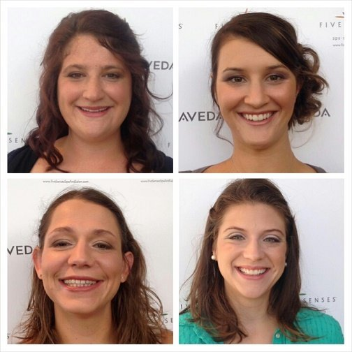 Wedding makeup for the bridesmaids provided by Lyssa!