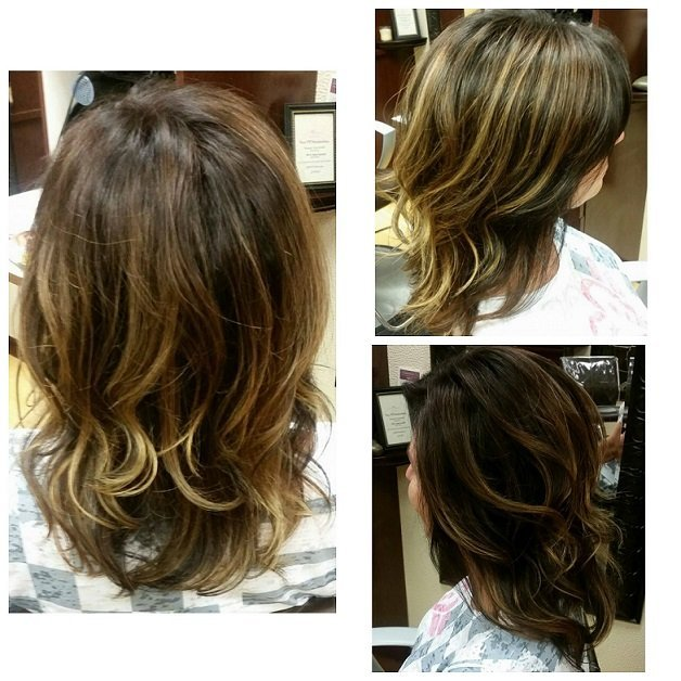Gorgeous highlights and color done by Melissa!