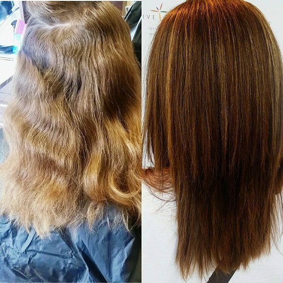 This guest hadn't had color in ten years! What a transformation!