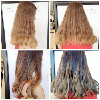 Highlights and color for the ombre look with one of our stylists!