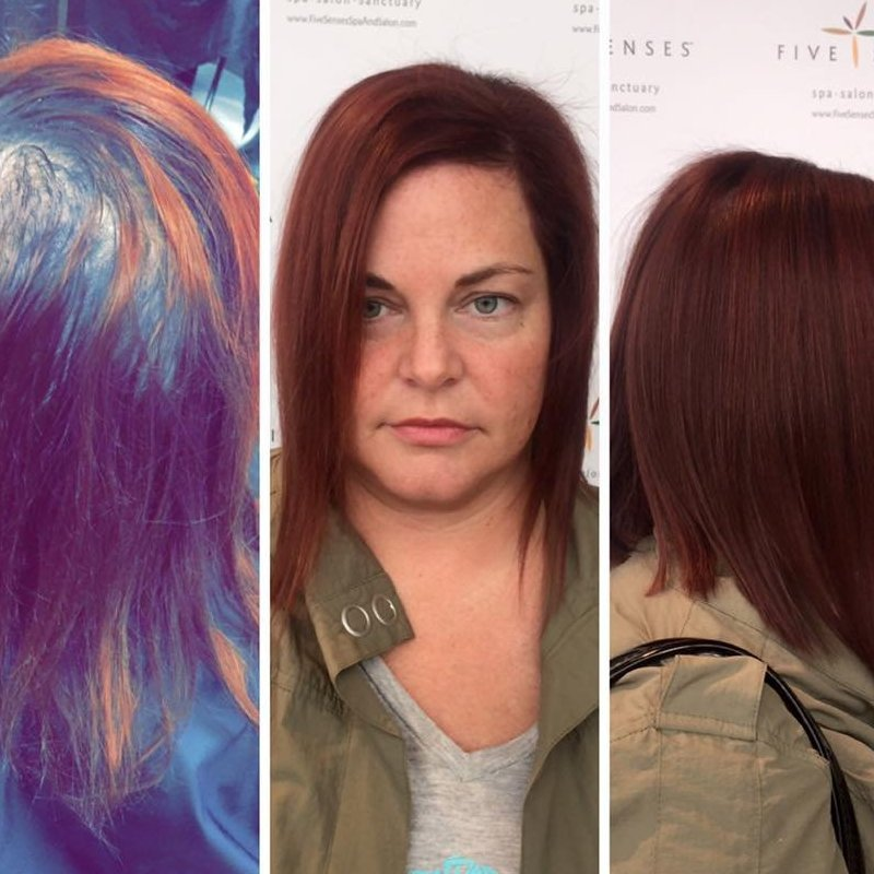 Jailyn changed this box color to a red/violet color and added an angled cut!