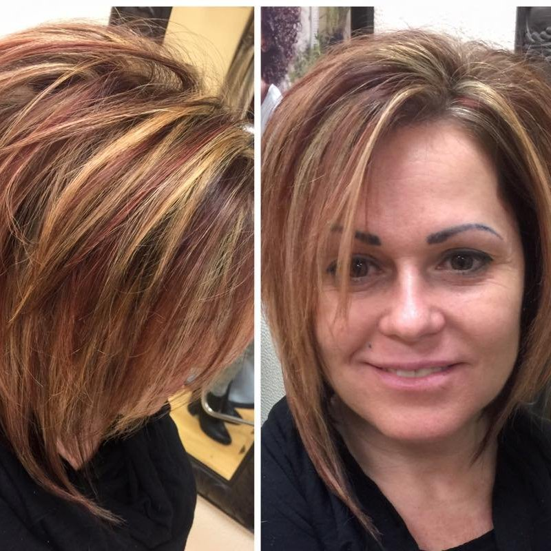 Charity received new highlights and lowlights that gave her look a lot of dimension!