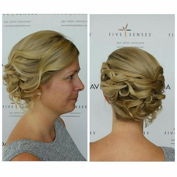 Beautiful bridal up-do by Melissa!