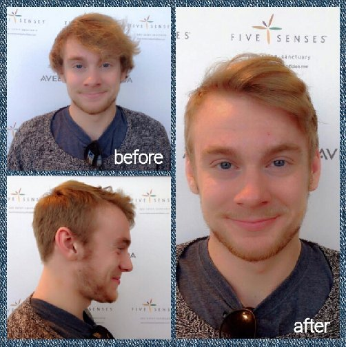 A great men's transformation by Lyssa!
