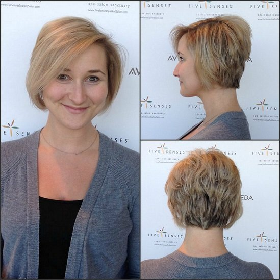 All over highlights with an adorable stacked cut with Lyssa!