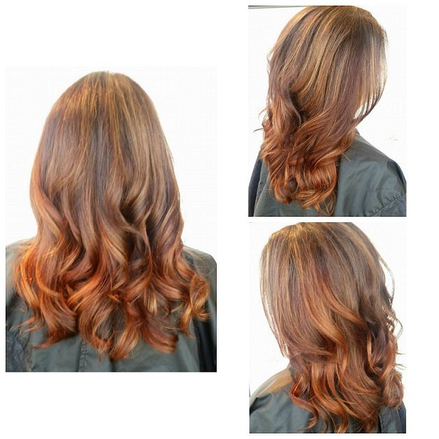 Stunning copper lowlights and highlights!