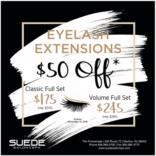 Save $50 on Lash Extensions: Classic and Volume Full Set