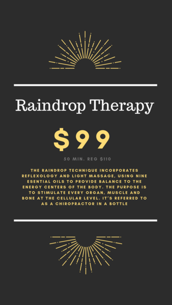 Raindrop Therapy Massage